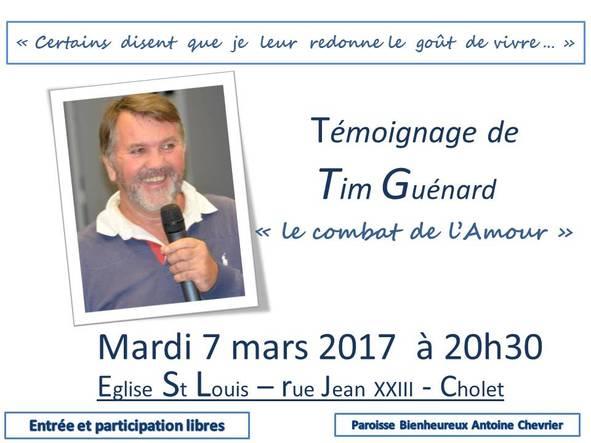 Tim Guénard à Cholet